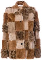 Marni patchwork fur coat - women - Lamb Skin/Sheep Skin/Shearling/Lamb Fur - 42