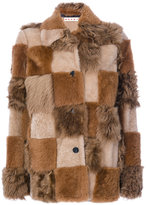 Marni patchwork fur coat