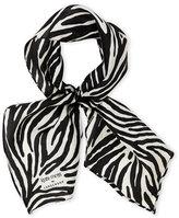 Longchamp Zebra Stripe Silk Scarf