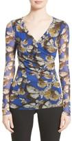Fuzzi Women's Long Sleeve Tulle Top