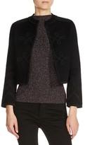 Maje Women's Officer Collar Cardigan