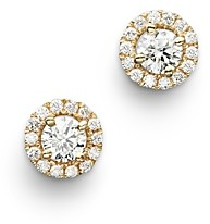 Bloomingdale's Diamond Halo Studs in 14K Yellow Gold, 0.30 ct. t.w. - 100% Exclusive
