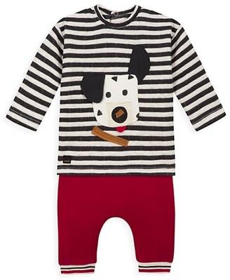 Catimini Baby Boy's 2-Piece Striped Dog & Pant Set