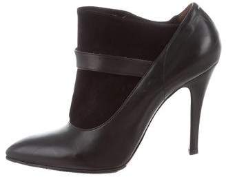 Maison Margiela Leather Pointed-Toe Booties