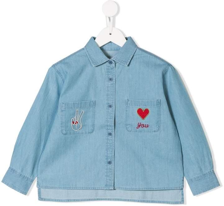Stella McCartney embroidered denim shirt