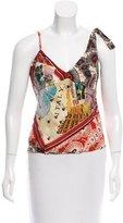 Karen Millen Printed Silk Top