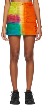 AGR SSENSE Exclusive Multicolor Hand-Dyed Miniskirt
