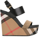 Burberry checked wedge sandals