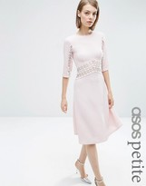 Asos Midi Skater Dress with Lace Insert