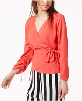 Bar III Ruched Wrap Top, Created for Macy's