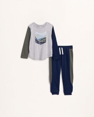 Splendid Toddler Boy Arrow Mountain Shirt Set