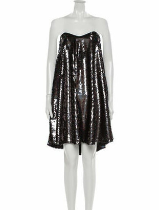 Caroline Constas Strapless Mini Dress w/ Tags Black