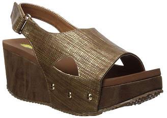 Volatile Women's Sandals BRONZE - Bronze Gold-Accent Nescafe Slingback Platform Sandal - Women