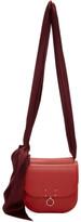Jil Sander Red and Burgundy Small Warp Bag