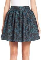 Alice + Olivia Women's Stora Box-Pleated Skirt