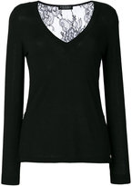 Twin-Set knitted V-neck top - women - Polyamide/Viscose/Wool - S