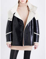 Belstaff Bethwin faux-leather and wool coat
