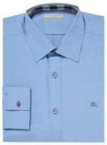 Burberry Solid Cotton Dress Shirt