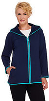 Denim & Co. As Is Active French Terry Zip Front Jacket w/ Hood