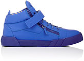 Giuseppe Zanotti Men's Ankle-Strap Double-Zip Sneakers-BLUE