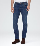 Reiss Reiss Clash - Mid-wash Jeans In Blue