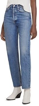 AGOLDE 90's Pinch Waist High Rise Straight Leg Jeans in Navigate