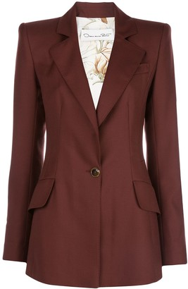 Oscar de la Renta Fitted Single-Breasted Blazer