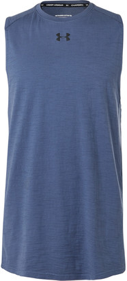 Under Armour Ua Logo-Print Panelled Charged Cotton Tank Top