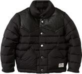 Penfield Black Pelam Leather Yoke Down Jacket