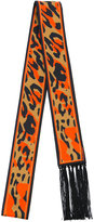 DSQUARED2 leopard print Glam stole - men - Silk/Acetate - One Size