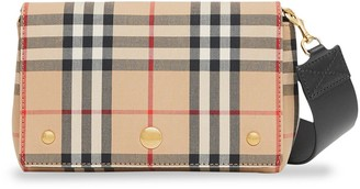 Burberry Vintage Check and Leather Note Crossbody Bag