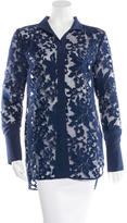 By Malene Birger Lace Embroidered Long Sleeve Top