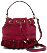 Milly Astor Suede Small Bucket Crossbody Bag