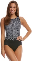 Longitude Safari Night High Neck Tank One Piece Swimsuit 8150569