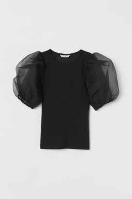 H&M Puff-sleeved top