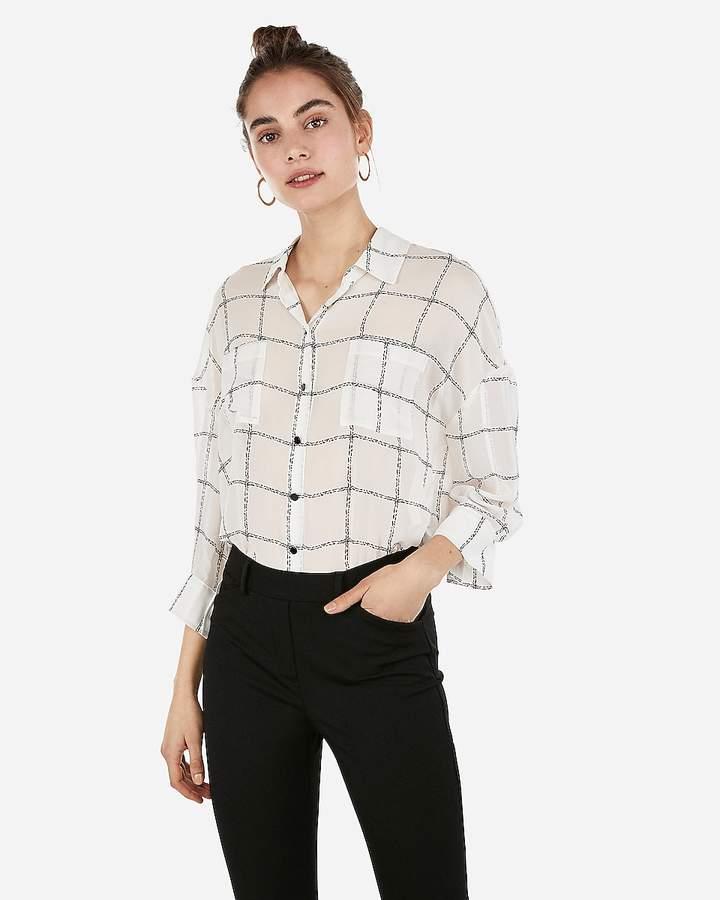 040f79bf514 Women Sheer White Button Shirt - ShopStyle