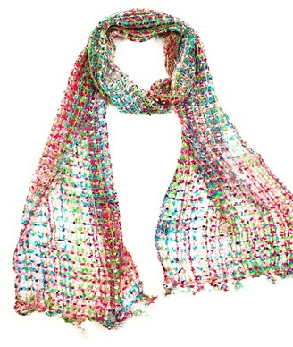 Cool Trade Winds Handmade Fair Trade Confetti Neck Scarf (Pink Mix)