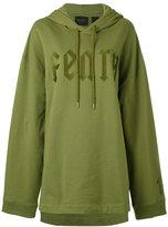Fenty X Puma - oversized Fenty hoodie - women - Cotton/Polyester/Spandex/Elastane - XS
