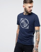 Original Penguin Target Logo T-shirt Slim Fit In Navy