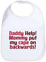 CafePress - Mommy Put My Cape On Backwards! Red - Cute Cloth Baby Bib, Toddler Bib