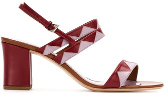 Sarah Chofakian Geometric Panels Sandals