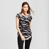Mossimo Women's Short Sleeve Tie Dye T-Shirt Black/White