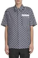 Lanvin Multi-Directional Striped Shirt