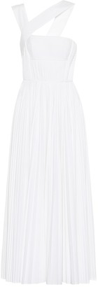 Gabriela Hearst Norah pleated cotton maxi dress