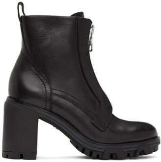 Rag & Bone Black Shiloh High Zip Boots