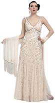 Sue Wong N1118 Beaded V-neck A-line Dress
