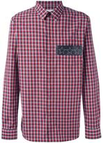 Givenchy star plaque plaid shirt - men - Cotton/Calf Leather - 40