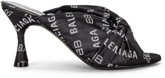 Balenciaga Drapy Sandals in Black | FWRD