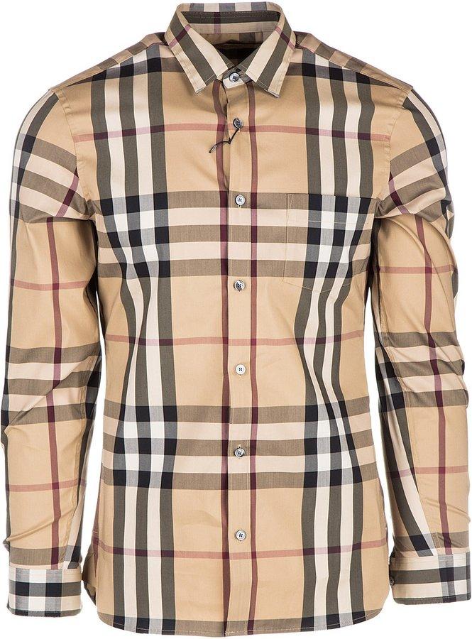 Burberry men's long sleeve shirt dress shirt nelson US size 4557598