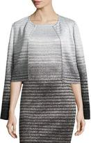 St. John Metallic Degrade Peekaboo Jacket, Caviar/Gray/Silver